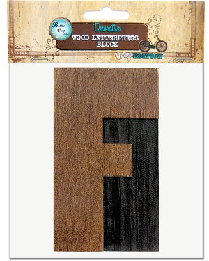 F, Large Letter Press Blocks