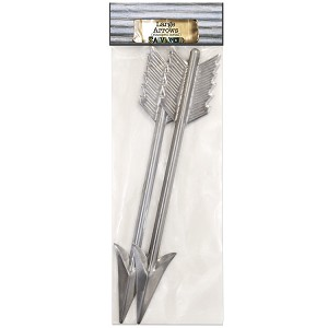 Metal Arrows 9x1.5 -Cut and Formed 2pc