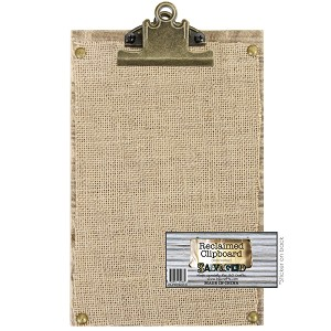 Clipboard 6x9 -Reclaimed Wood with Burlap