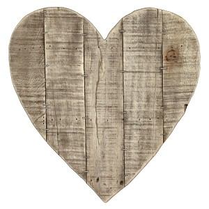 Blank Heart Pallet Sign 14x14 -Reclaimed Wood