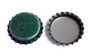 Distressed Green Bottle Caps