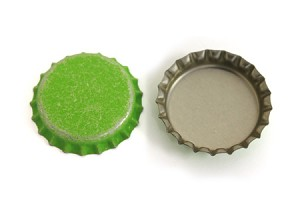 Distressed Lime Green Bottle Caps