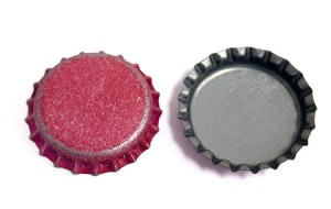 Distressed Red Bottle Caps