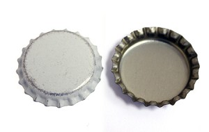 Distressed White Bottle Caps