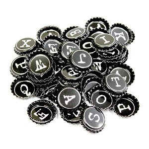Typewriter Bottle Caps - Random Assortment (Bulk)