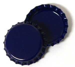 Two Sided Blue Bottle Caps