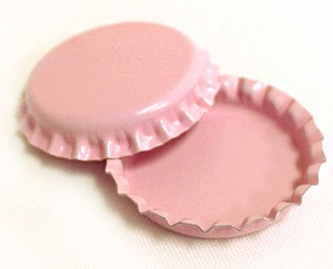 Two Sided Pink Bottle Caps